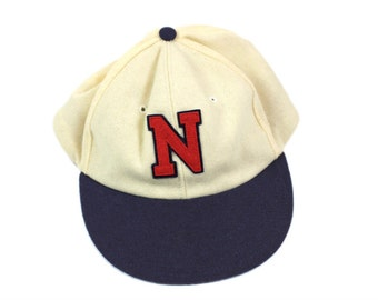 1930s Cooperstown Cream and Blue Baseball Cap w/Letter N