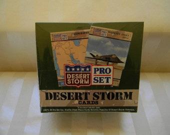 Unopened Box, 36 Packs, Pro Set DESERT STORM Collector Cards