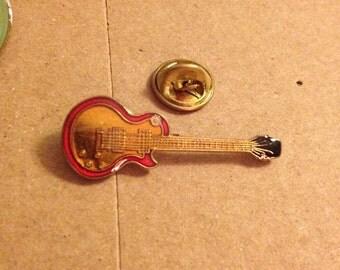 Vintage guitar fender gibson lapel pin button 80s