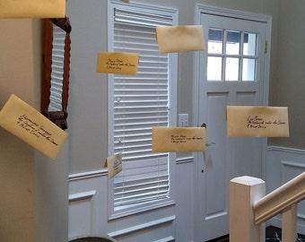 Floating Harry Potter Envelopes