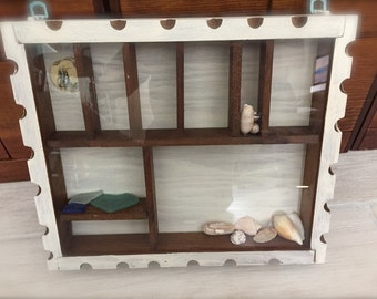 Hand Crafted Wood Miniatures Nautical Display Curio Cabinet