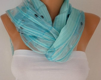 Light Blue Scarf Shawl, Wedding Scarf Bridesmaid Gift Bridal Accessories Gift Ideas For Her Women Fashion Accessories
