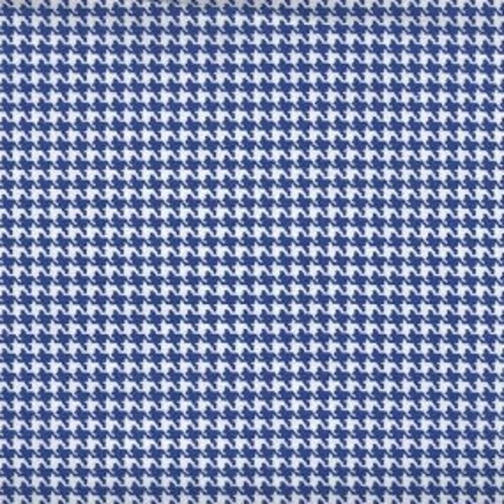 Houndstooth fabric,Royal Blue and white houndstooth fabric,100% cotton,Quilt fabric,Apparel fabric,Craft,Sold by FAT QUARTER INCREMENTS