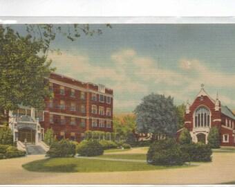"Nebraska, Vintage Postcard,  ""The Immanuel Deaconess Institute Chapel and Hospital, Omaha, Neb."" 1950, #996."