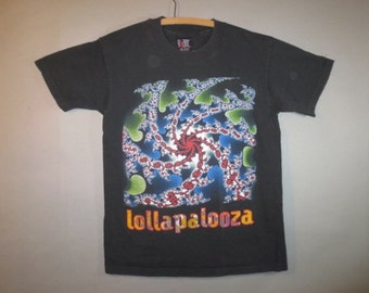 Lollapalooza Festival 1993, Vintage T Shirt // Giant Label, Bright Colors, List of Bands...large