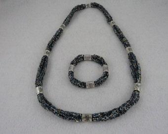 PDF Tri Cord Knit Necklace and Bracelet Pattern