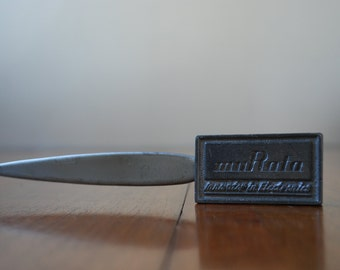 vintage steel letter opener - muRata - Advertising - Industrial - desktop