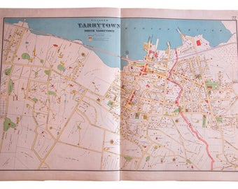 Antique Tarrytown NY Map