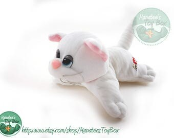 1980s Pound Purrries Kitten by Tonka: White Cat 80s Toy Pound Puppies