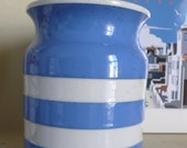 SALE 25% off Cornishware vintage storage jar T G Green