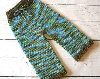 Pure Wool Hand Knit Longies/Diaper Cover