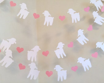 Little Lamb Baby Shower Decorations - pink Our Little Lamb Nursery decoration - Little lamb garland - Your color choice