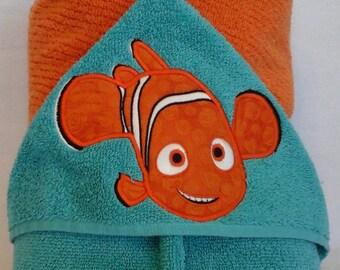 Little Lost Fish (Nemo) Hooded Towel