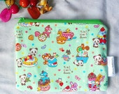 Kawaii panda pouch, cute animals mint pouch, adorable make up pouch, coin purse, accessory girl, candyland, gifts for her