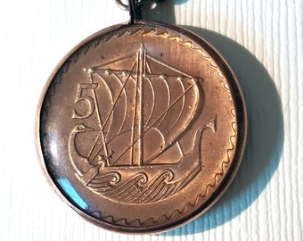 Cypriot Ancient Boat Coin