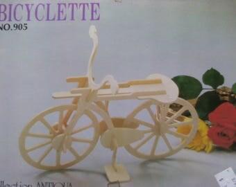 Vintage 1980'S Wood Bicycle / Bictclette Puzzle / Model Kit.