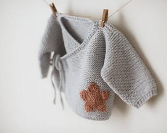 Baby Sweater KNITTING PATTERN baby kimono jumper pattern newborn to 6 months sizes