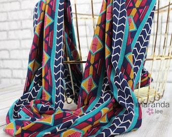 SALE Infinity Scarf - READY to SHIP -Geo- Jersey Knit Cotton Scarf Chevron