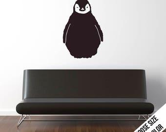 Baby Penguin Wall Decal  - Animal, Arctic - Vinyl Sticker