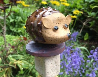 Hedgehog Garden Totem