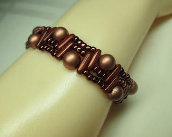 Metallic  Copper Hued Bracelet