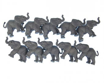 10x elephant Aufstellfigur Miniblings Gummitier 6.5cm African Elephant