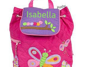 Personalized Backpack or Baby Diaper Bag Stephen Joseph Quilted Butterfly Caterpillar