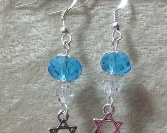 Star of David Earrings - Glass Crystals
