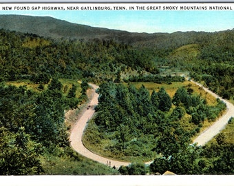 Gatlinburg, Tennessee, New Found Gap Highway, Smoky Mountains - Vintage Postcard - Postcard - Unused (Y)