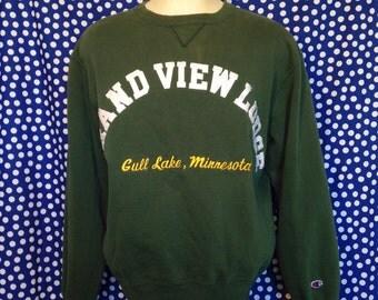 Early 90's Grand View Lodge Champion sweatshirt, fits like a slim large