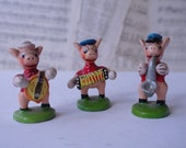 Vintage Piggy Band - Pig Band - Pigs - Made in Portugal