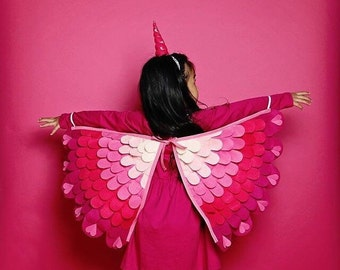 LOVE UNICORN, Costume Wings and Horn // Baby, Toddler & Child sizes!