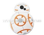 ON SALE Orange and White Droid Applique Design