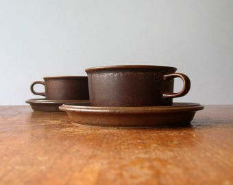 """Single Vintage Arabia Finland """"Ruska"""" Cups and Saucers Many Available"""