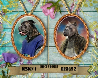 Cane Corso Jewelry. Cane Corso Pendant or Brooch. Cane Corso Necklace. Cane Corso Portrait. Custom Dog Jewelry by Nobility Dogs.