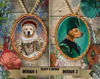 Golden Retriever Jewelry. Golden Retriever Pendant or Brooch. Golden Retriever Necklace. Retriever Portrait. Custom Dog Jewelry.Handmade