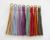 Suede Tassels Assorted / Choose One / -100mm- Pendant - 1 Piece
