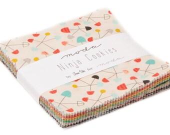Ninja Cookies cotton charm pack by Jenn Ski fo Moda fabric