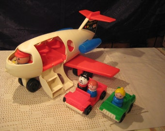 Vintage 1970 Fisher Price Little People Airplane