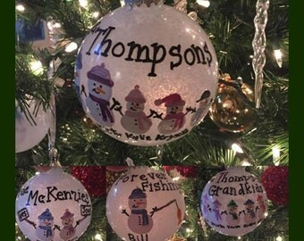 Personalized Glass Christmas ornament, Customized Christmas Ornament, Handmade Ornament, Custom Ornament, Handmade Ornament, Christmas
