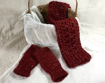 Sparkles Scarf & Fingerless Glove  SET