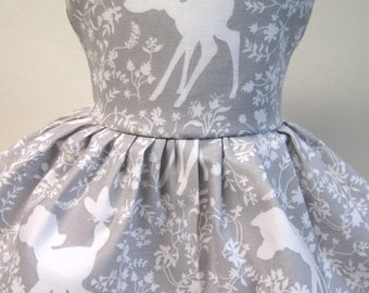 Bambi in Silhouette, Grey Sleeveless Dress for your 18 Inch Doll A