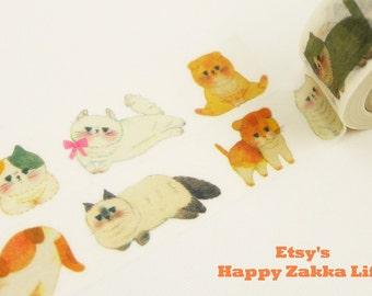 Fat Cat - Japanese Washi Masking Tape - papier platz - 11 Yard - No Discount