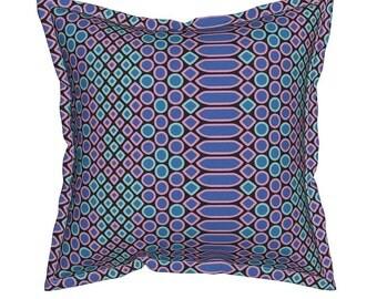Blue Snakeskin Pillow, Reptile Throw Pillows, Decorative Pillows, Unique Throw Pillow, Animal Skin Cushion, Blue Throw Pillow, Southwest