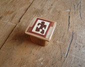 Small Trinket Box, Cedar, Jigsaw Puzzle, Ring Box, Gift Box, Recycled Wood