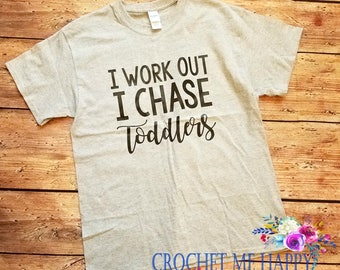 I Chase Toddlers MomLife #Momlife Work Out Tee Shirt, Tank Top