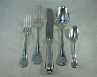 Ercuis France Fine Silverplate Jonc Service for 5