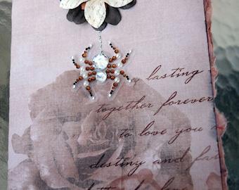Bitten by Love Diamond Spider Handmade Card