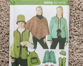 Vintage Simplicity Pattern #4755 - Cape - Vest - Hat - Bag - Purse - Jacket -
