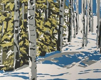 Aspen Forest, original screenprint